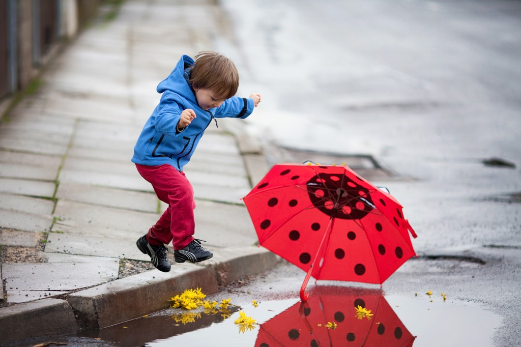 Best Boomers and Beyond, A Walk in the Rain, Baby Boomers, Playing In Puddles, Rubber boots and rain,