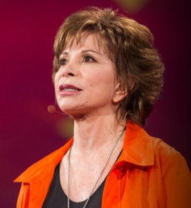 Isabel Allende, novelist, bestselling novel, House of Spirits, TED Talks, Baby Boomer, Boomer, Baby Boomers and Beyond, septuagenarian 70's, 40's, Older writers,
