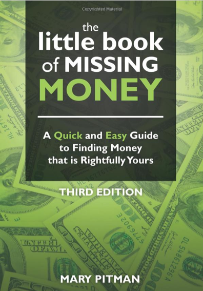 the little book of missing money, mary pitman, unclaimed money, unclaimed property, missing money, how to get lost money, how to find money, best boomers and beyond, best boomers, leaura alderson, interview with mary ptiman, missing money lady, the missing money lady, how to claim your property