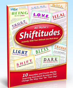 Ali Skylar's Shiftitudes is an incredible FREE resource of elevating, transformative and truly life changing affirmations.