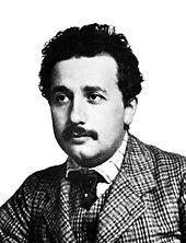 Albert Einstein in 1904 (age 25). [Image from Wikipedia].