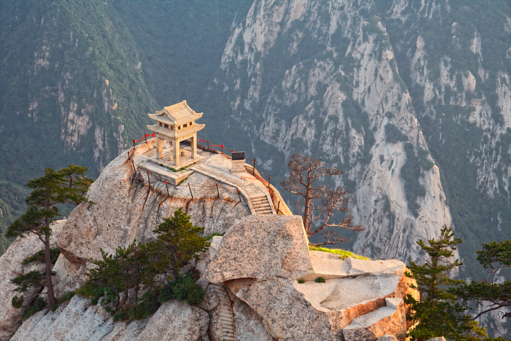 Stone pagoda on the East Peak of the holy mountain HuaShan, China, Doris Gallan, BabyBoomersTraveling, Baby Boomers Traveling, LeAura Alderson, Vietnam, Jacob Frank, boomer traveling the world, ex pats, ex patriots,